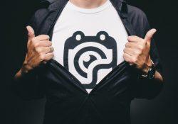 Smart t-shirt med tryk